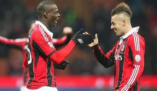 Milan, udinese, balotelli, vittoria, rigore inesistente