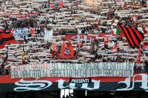 Milan, allegri, inzaghi, ultrà, vergogna